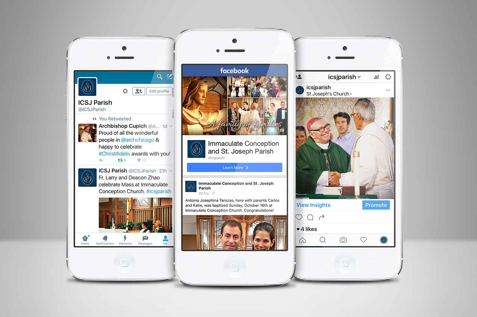 A dynamic social media presence has helped contemporize the parish, improve communication, and attract new parishioners.