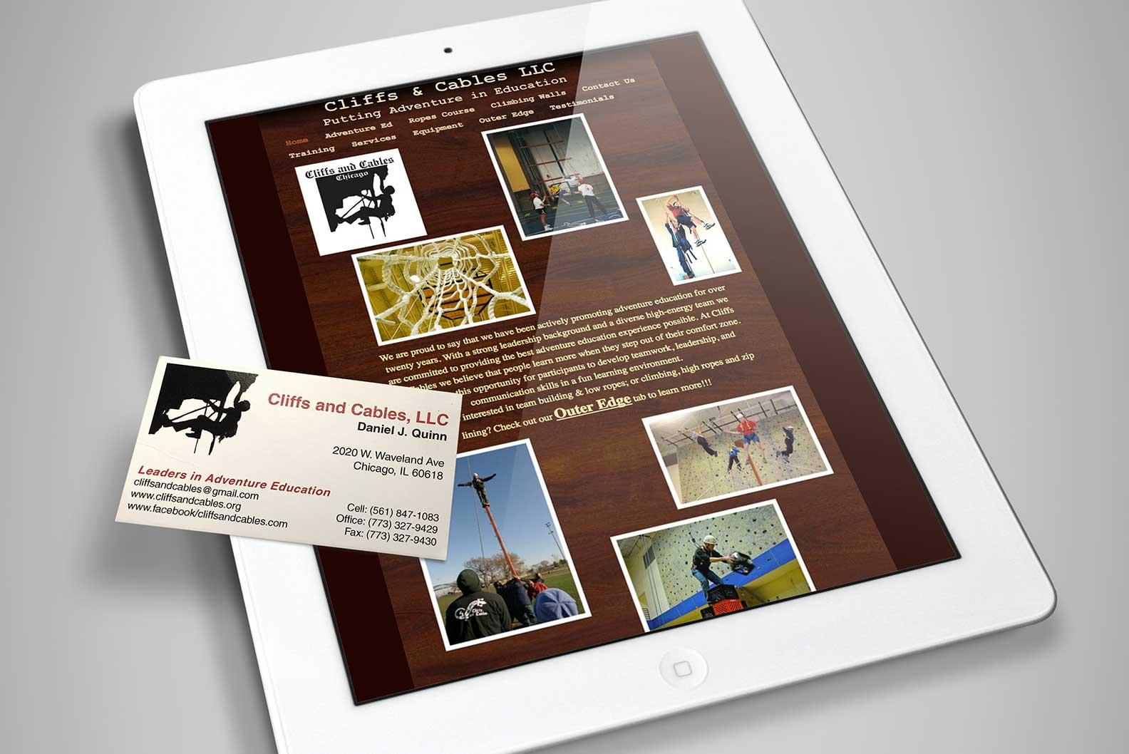 BEFORE:  The original logo, business card and website.