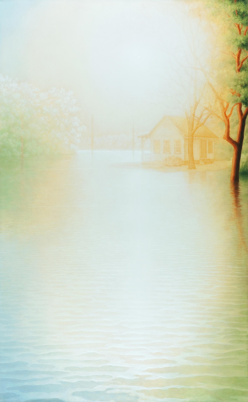 """Flood V1, oil on canvas, 78 x 48"""" , 2011-12"""