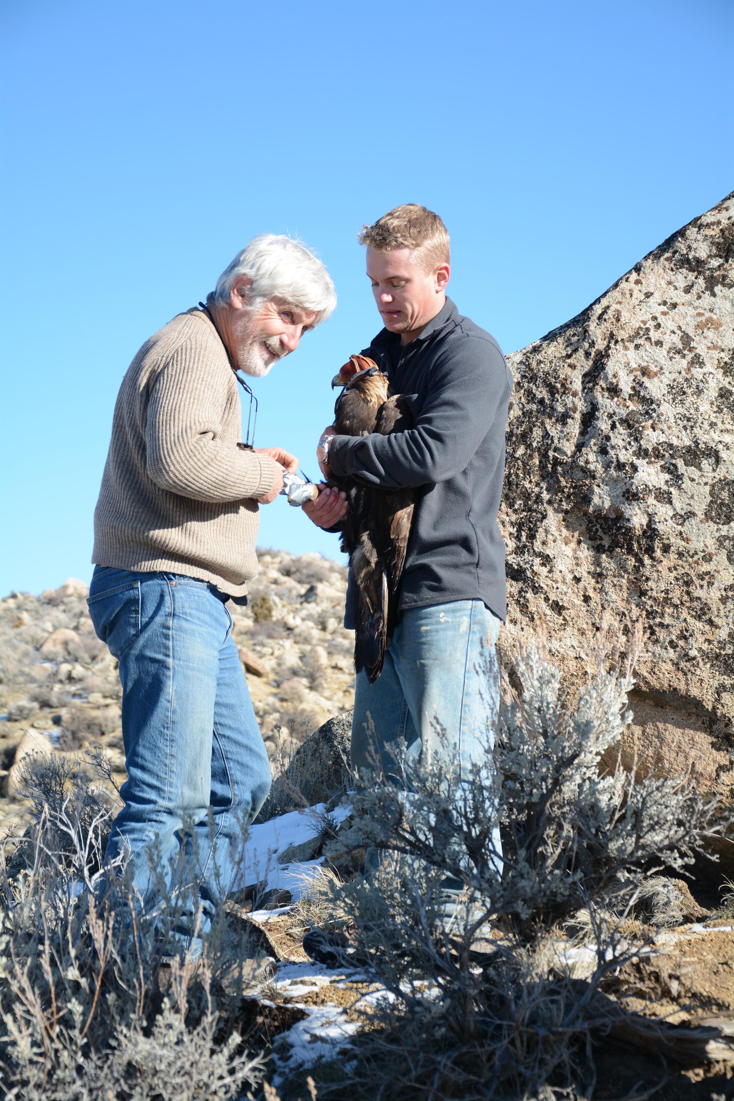 Pete Bloom with Josh Duey with the Plumas Audubon Society