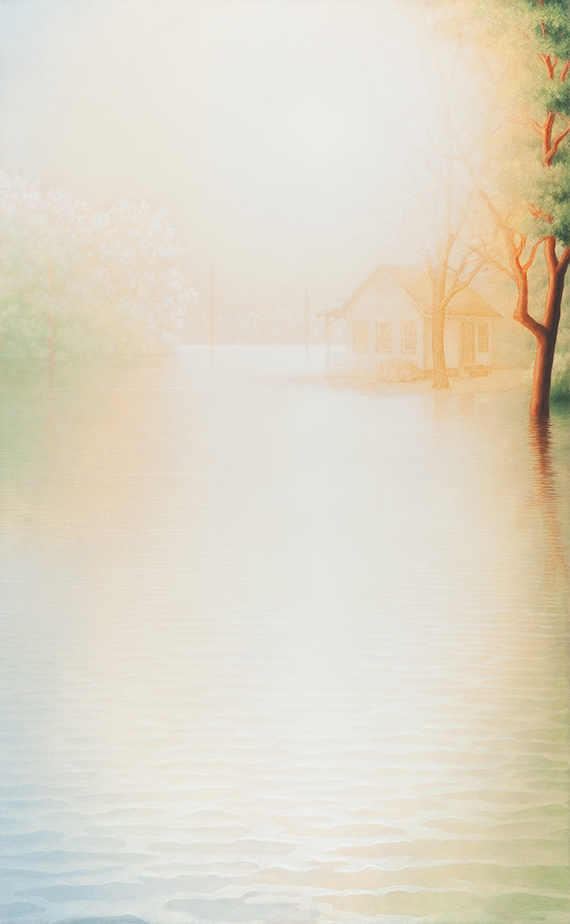 """Marina Moevs, Flood VI , 2011-12, oil on canvas, 78"""" x 48"""""""