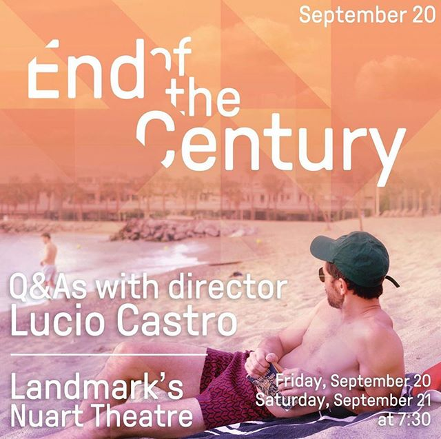 Yes my name might be a tad too big but... End of the Century opens this Friday in Los Angeles at the fantastic @nuarttheatre ! Come say hi, the popcorn tastes better in Hollywood (even though it was invented in Mexico like in 3600 BC according to wikipedia). Anyways, come!