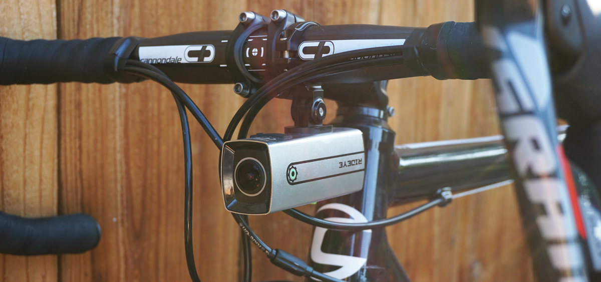 Shown with the  RIDEYE Elite Aluminum Handlebar Mount