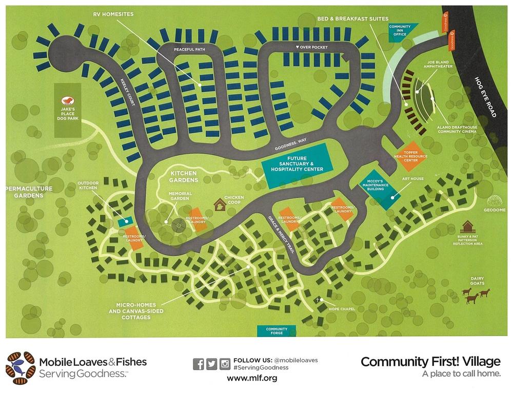 Community First! Village Site Plan, Austin Texas