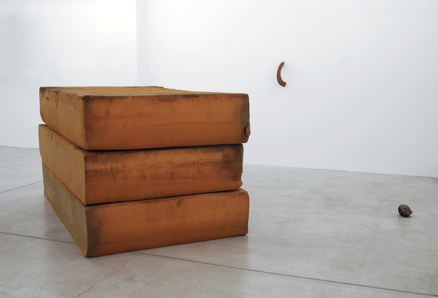 Untitled  2013 Foam and Steel (3 parts) Dimensions variable