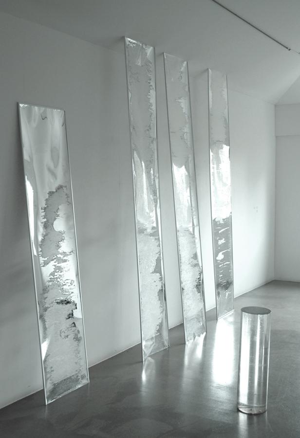 Untitled  2011 Mylar, Aluminium, Acrylic tube Dimensions variable