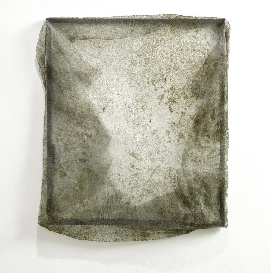 Untitled  2011 Wood, glass, veil 35 x 30 cm