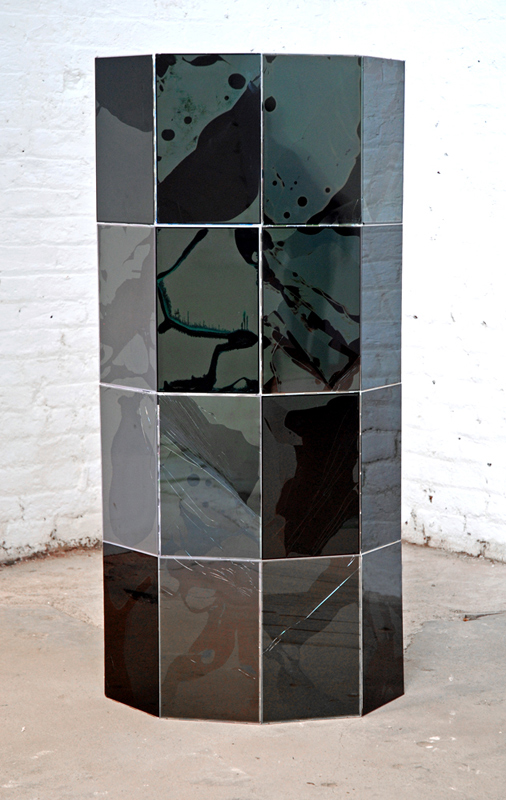 Untitled  2011 Sixteen damaged 15.2 inch liquid crystal display (LCD) laptop screens 92 x 192cm