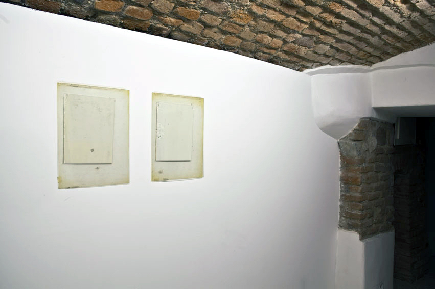 Untitled  2011 Plastic, paint, tape 40 x 25cm each
