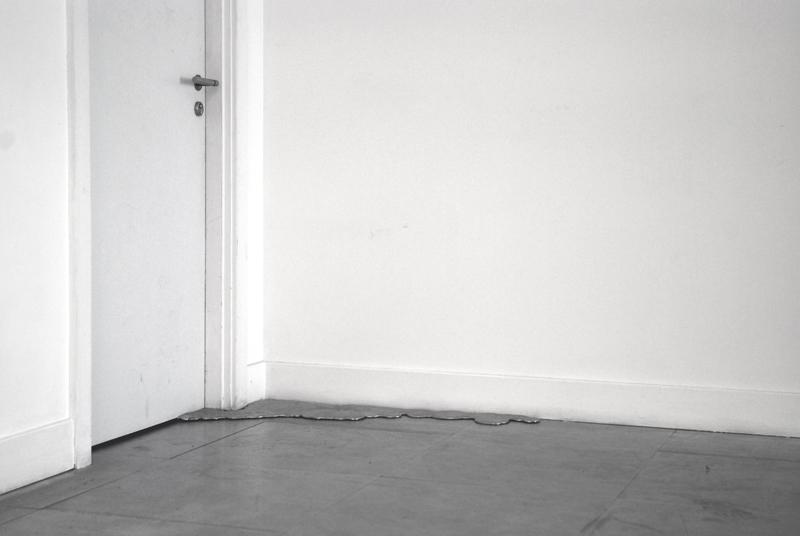 Untitled  2009 Poured Alumininum, Aluminium floor Dimensions variable David Roberts Art Foundation, London