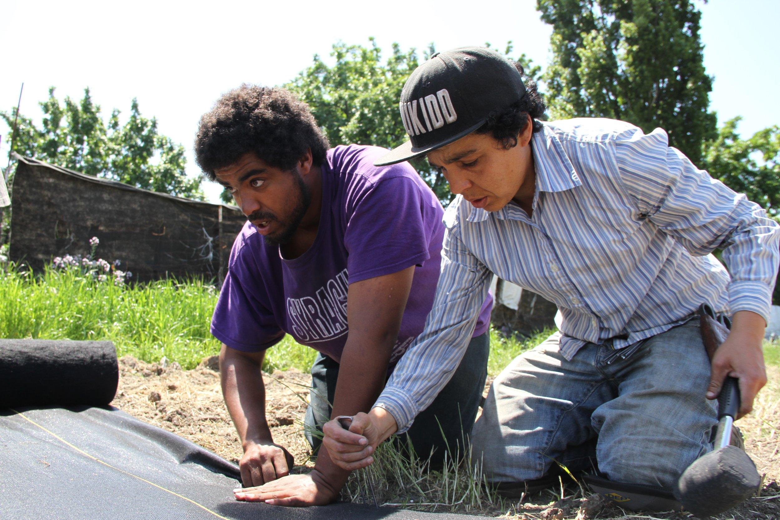 Rolling River Nursery team gardening