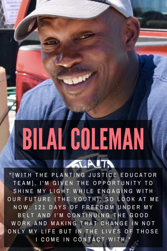 Bilal Coleman, holistic re-entry