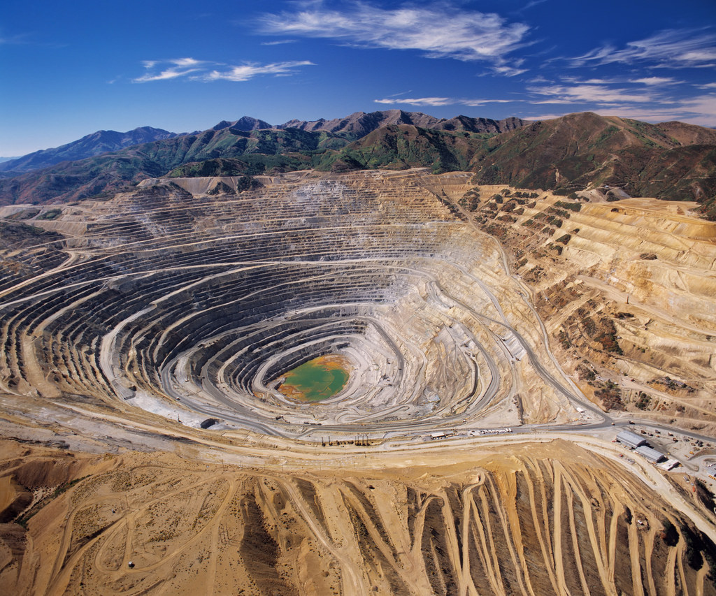 Photo: Kennecott Copper Mine, outside of Salt Lake City, Utah (occupied territory of the Ute, Shoshone, Paiute, & Goshute peoples)