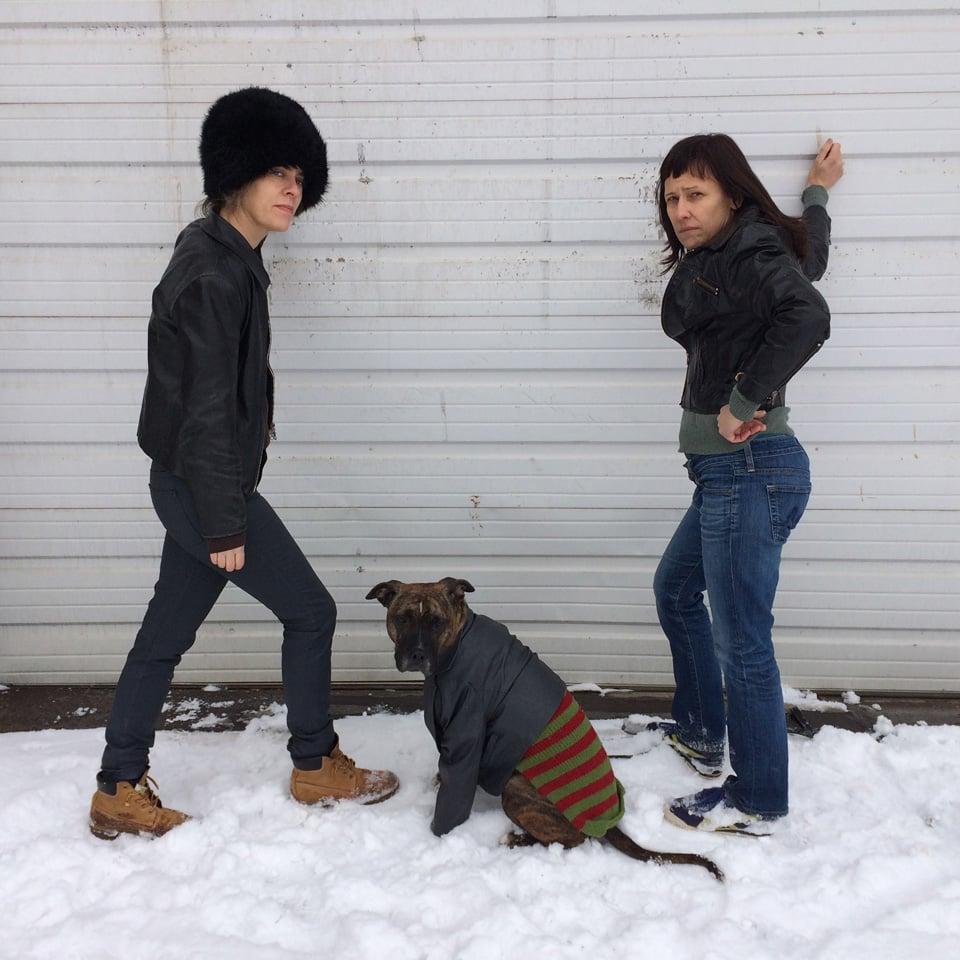 Pardon Me, Do You Speak Dog?  Digitial video, Series in 3 parts Skewed Visions, Mpls, MN 2014 performers: Jennifer Arave, Kristin Van Loon, Audrey (American Pit Bull Terrier)
