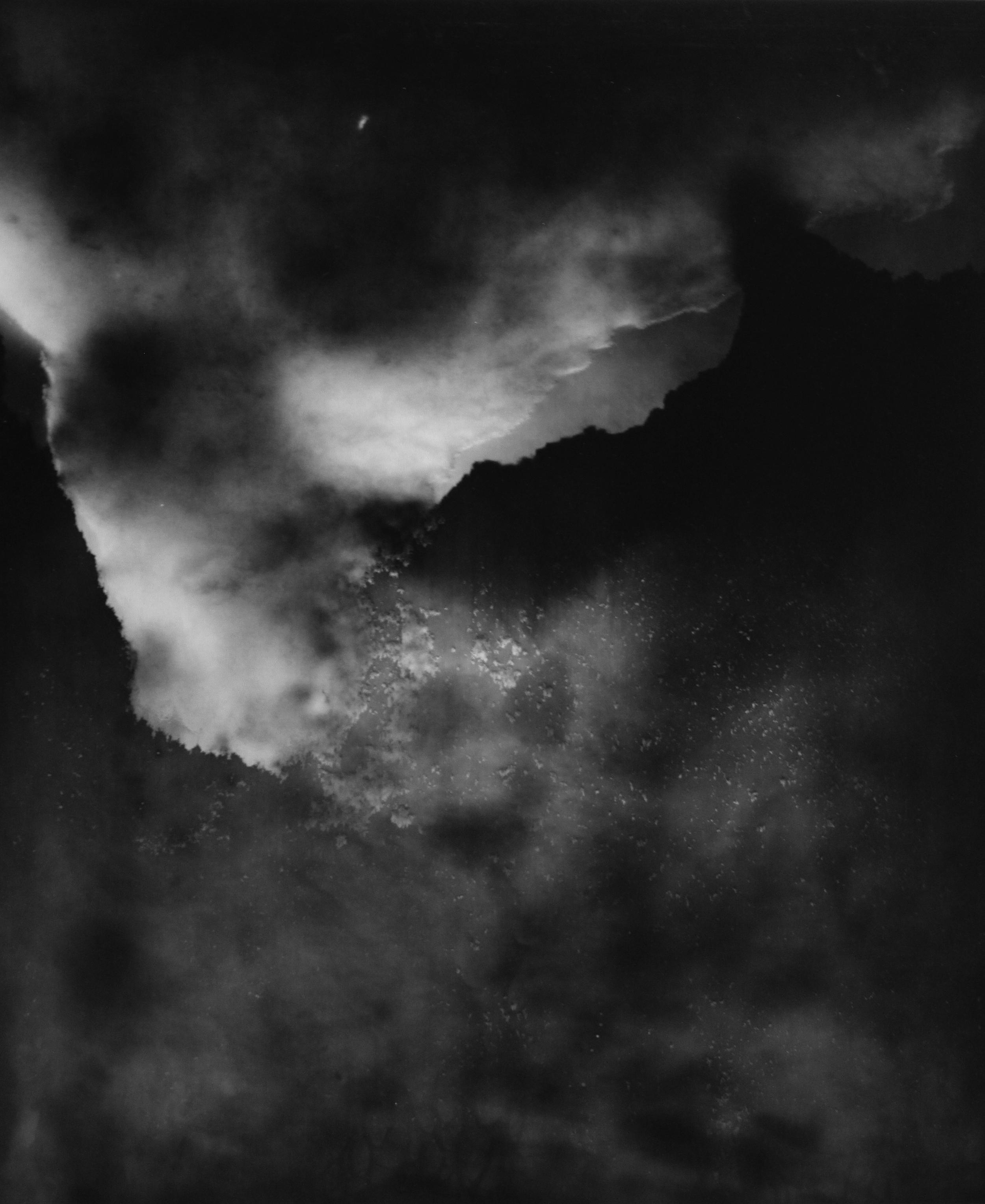 """El Capitan , 2006. Unique photogram, gelatin silver toned print, 24""""x20"""""""