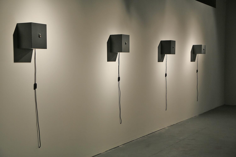 Last Witness Installation, Mixed media sculpture, 9.8 x 7.9 x 7.9 in. 25 x 20 x 20 cm.
