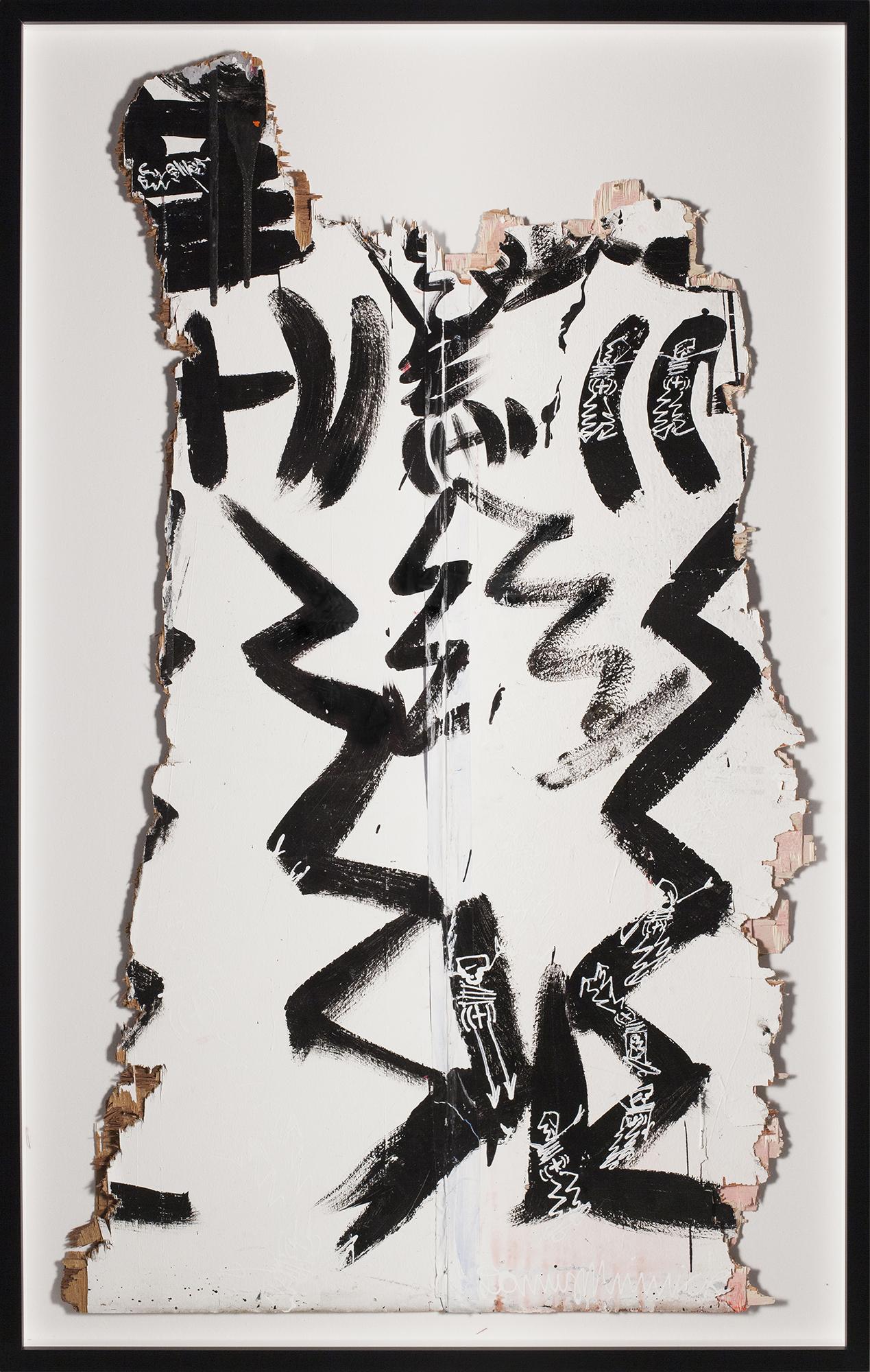 "Studio Wall No. 8, 2015, Mixed media on wood,63"" x 39  ¾  """