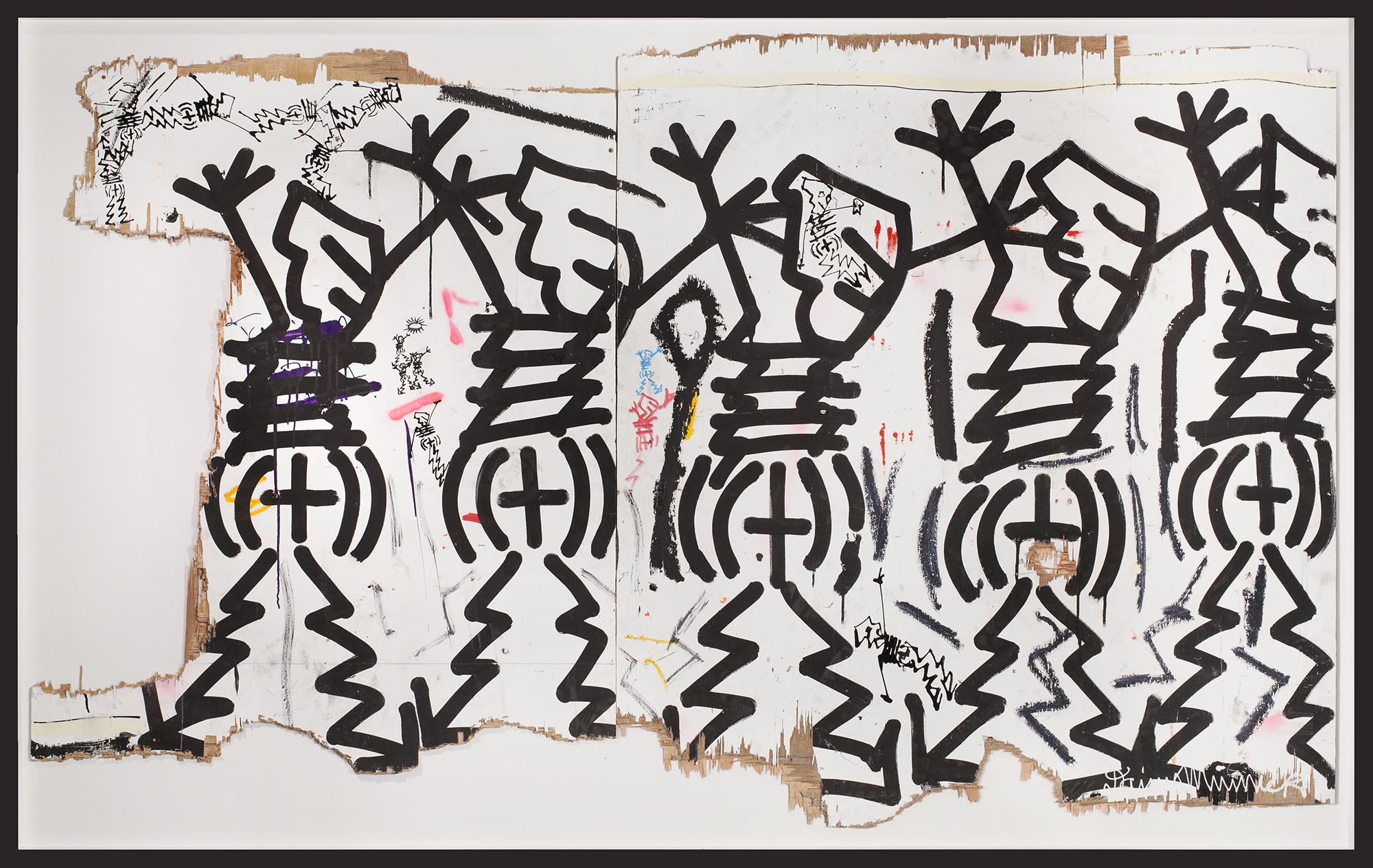 "Studio Wall No.11, 2015, Mixed media on wood,55"" x 87"""