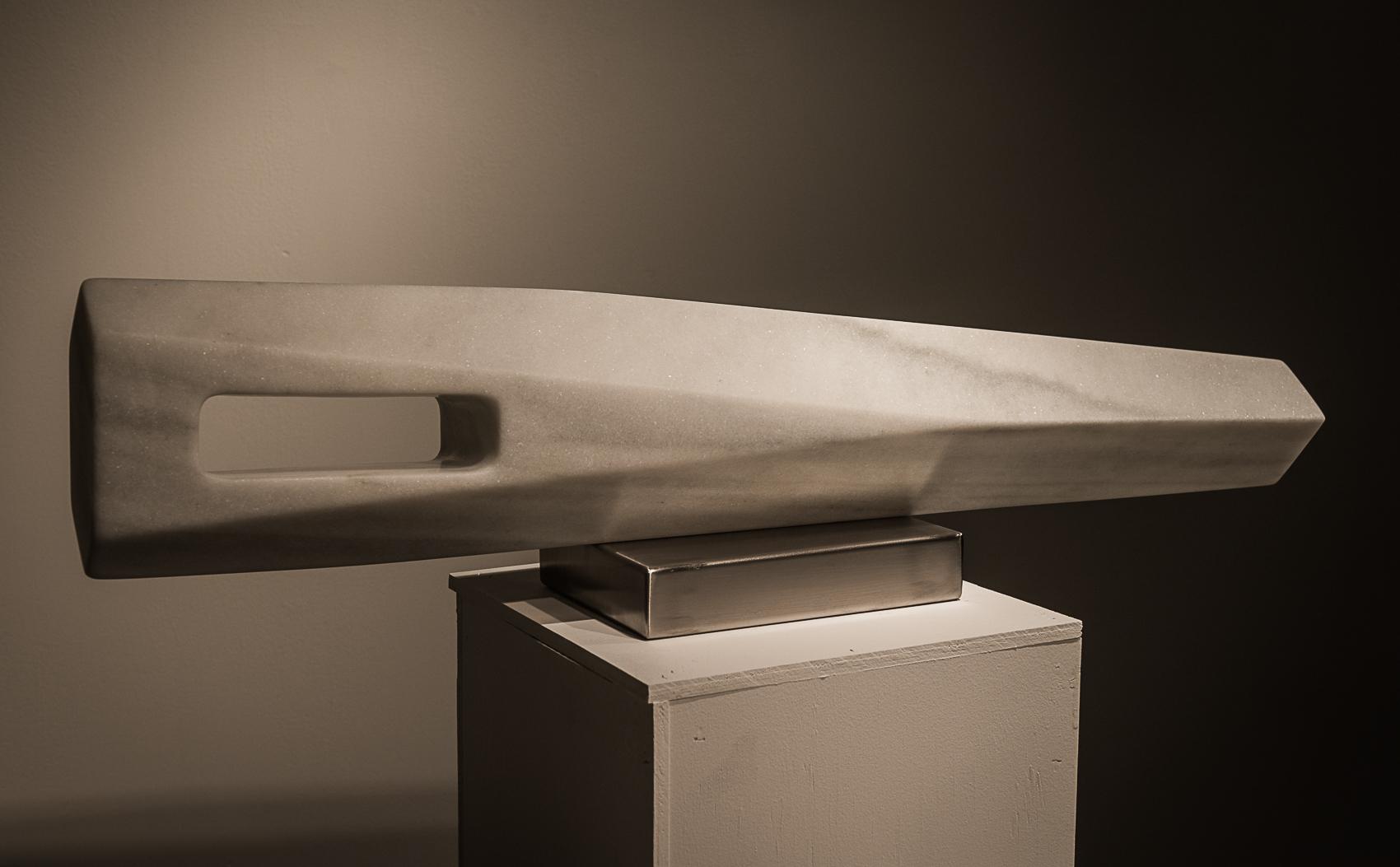 "Horizontal Equilibrium    Macael Marble 7¾"" x 29¾ x 5½"""