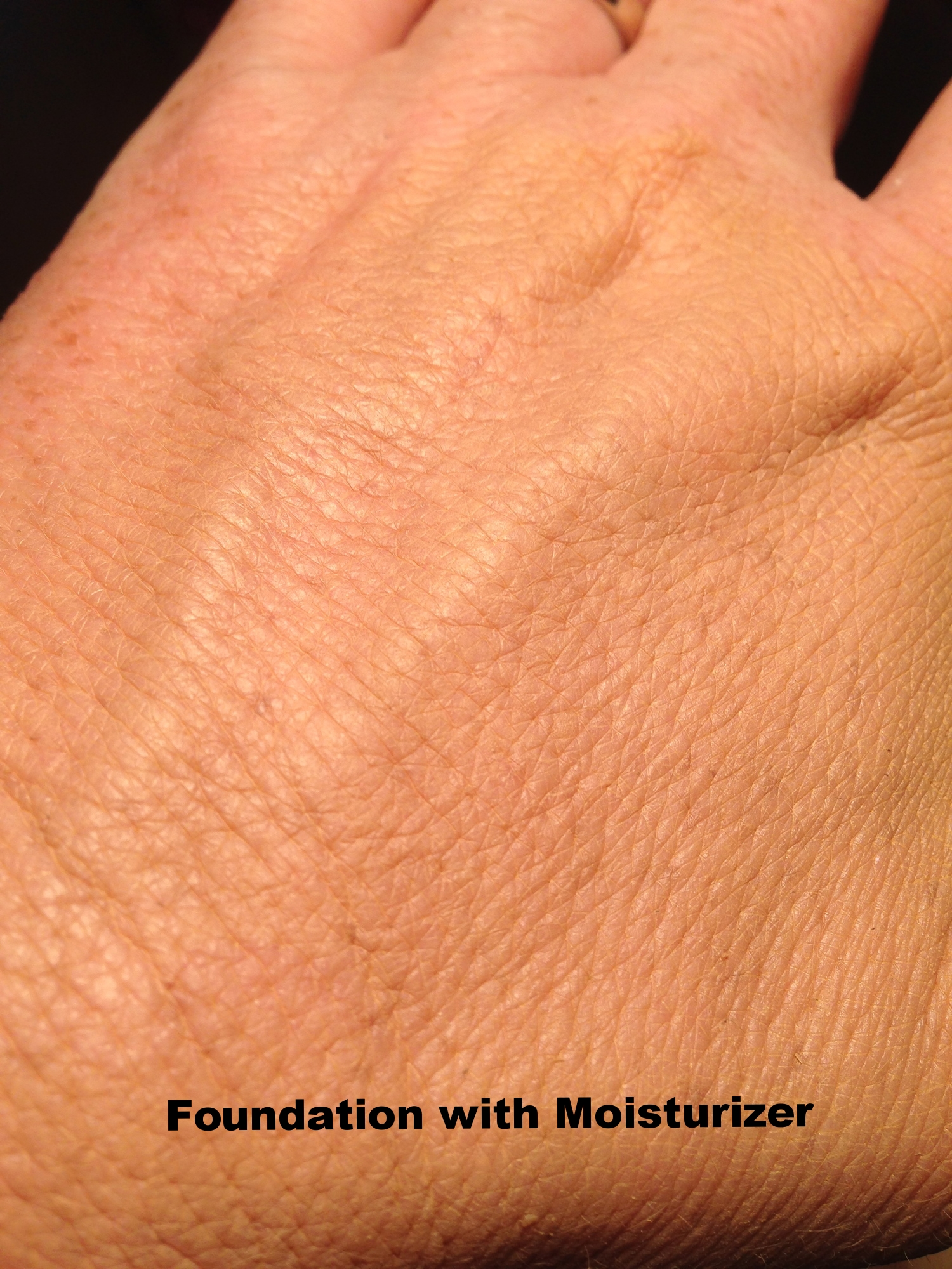 Foundation with moisturizer