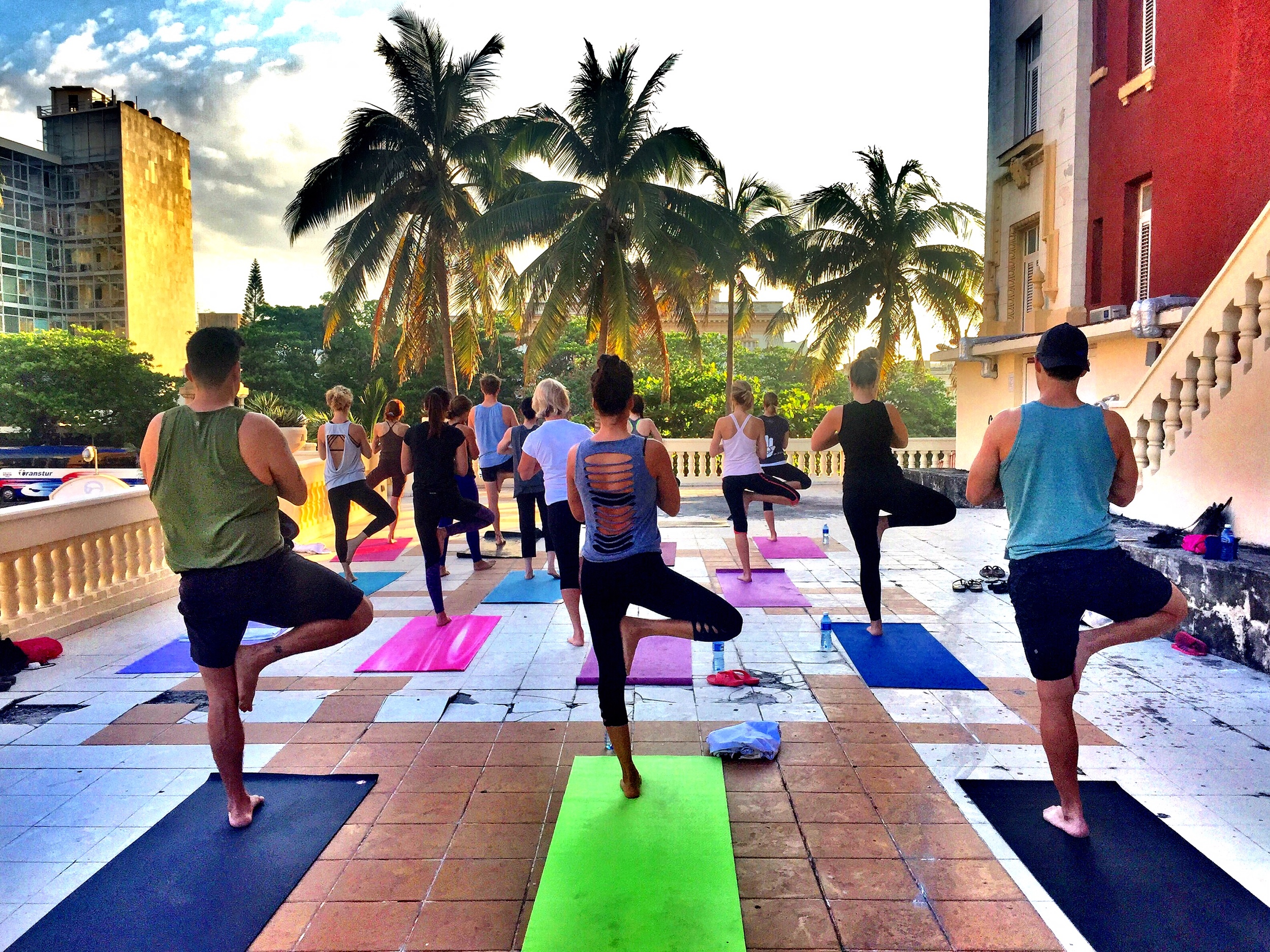 sunrise yoga at hotel presidente