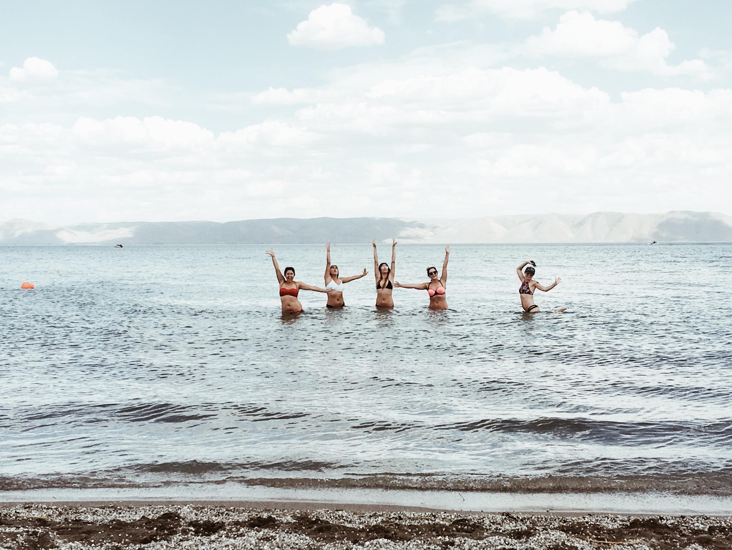 Swimming-in-Bear-Lake-Utah
