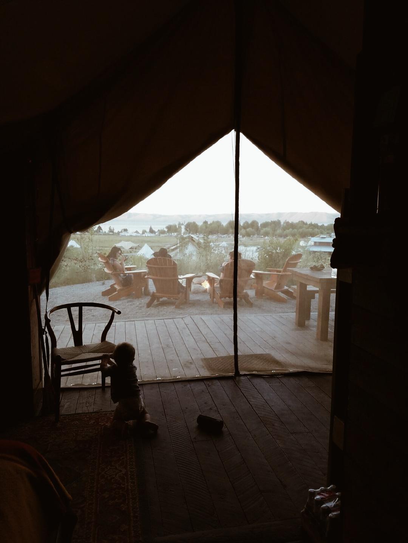 Yellowstone-glamping-tent-at-Conestoga-Ranch-Bear-Lake-Utah