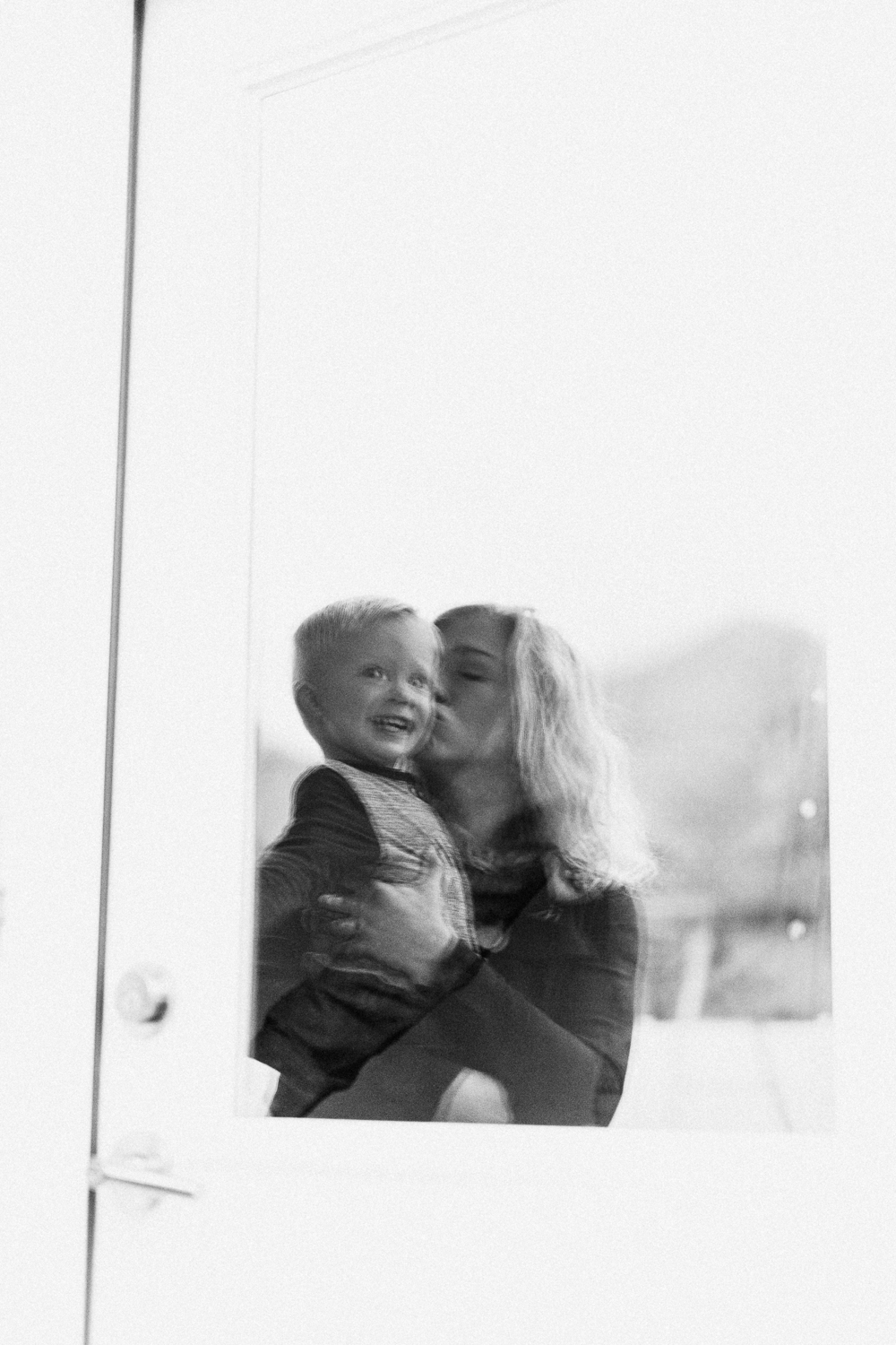 mother and son candid portrait slc utah