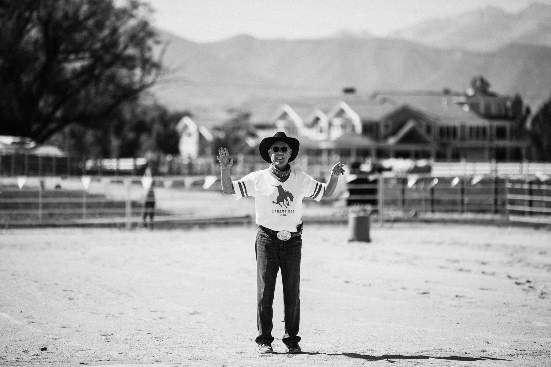portrait-of-grandpa-officiating-barrel-racing-heber-utah