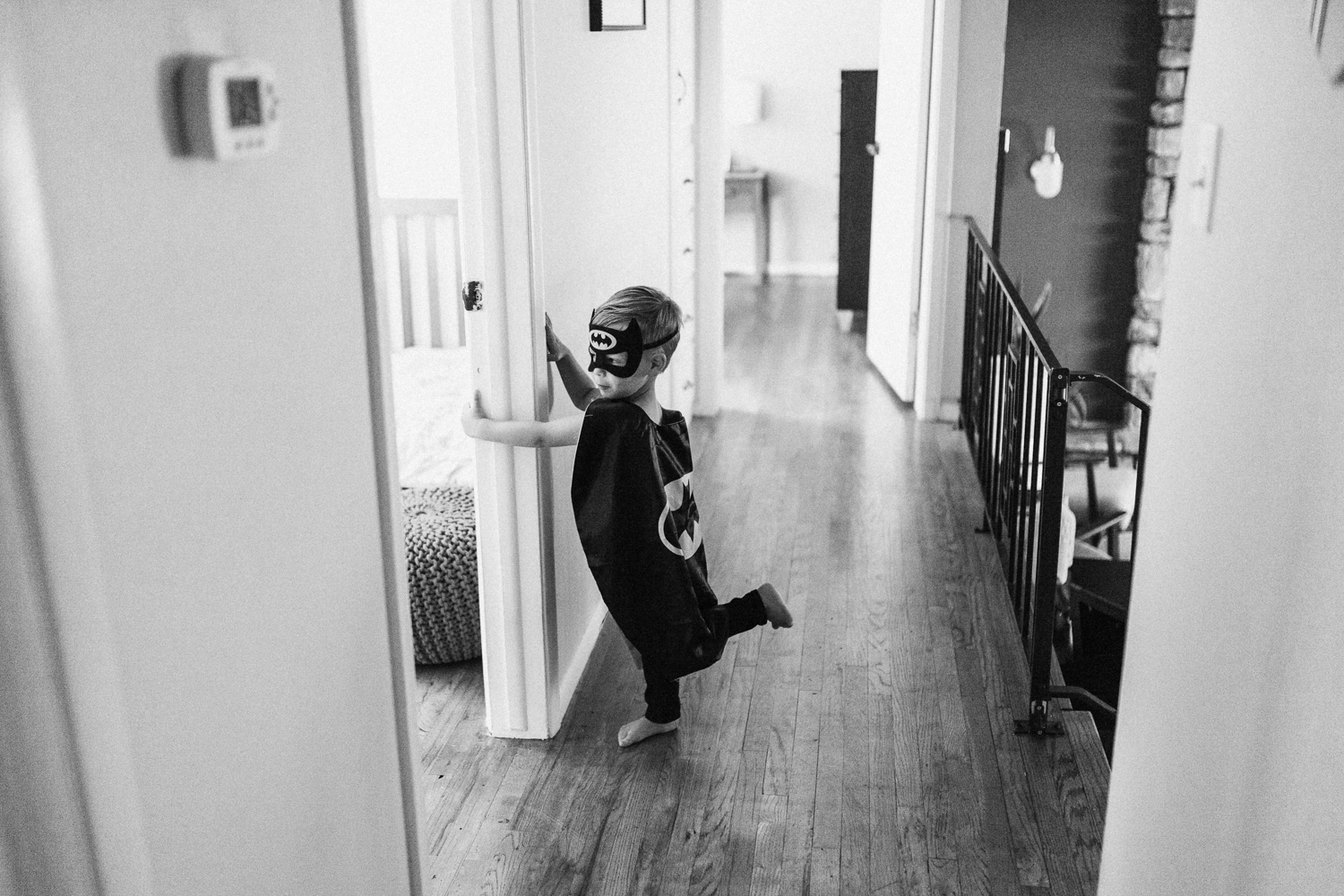 documentary-photograph-of-little-boy-in-hall-at-home-salt-lake-city-utah