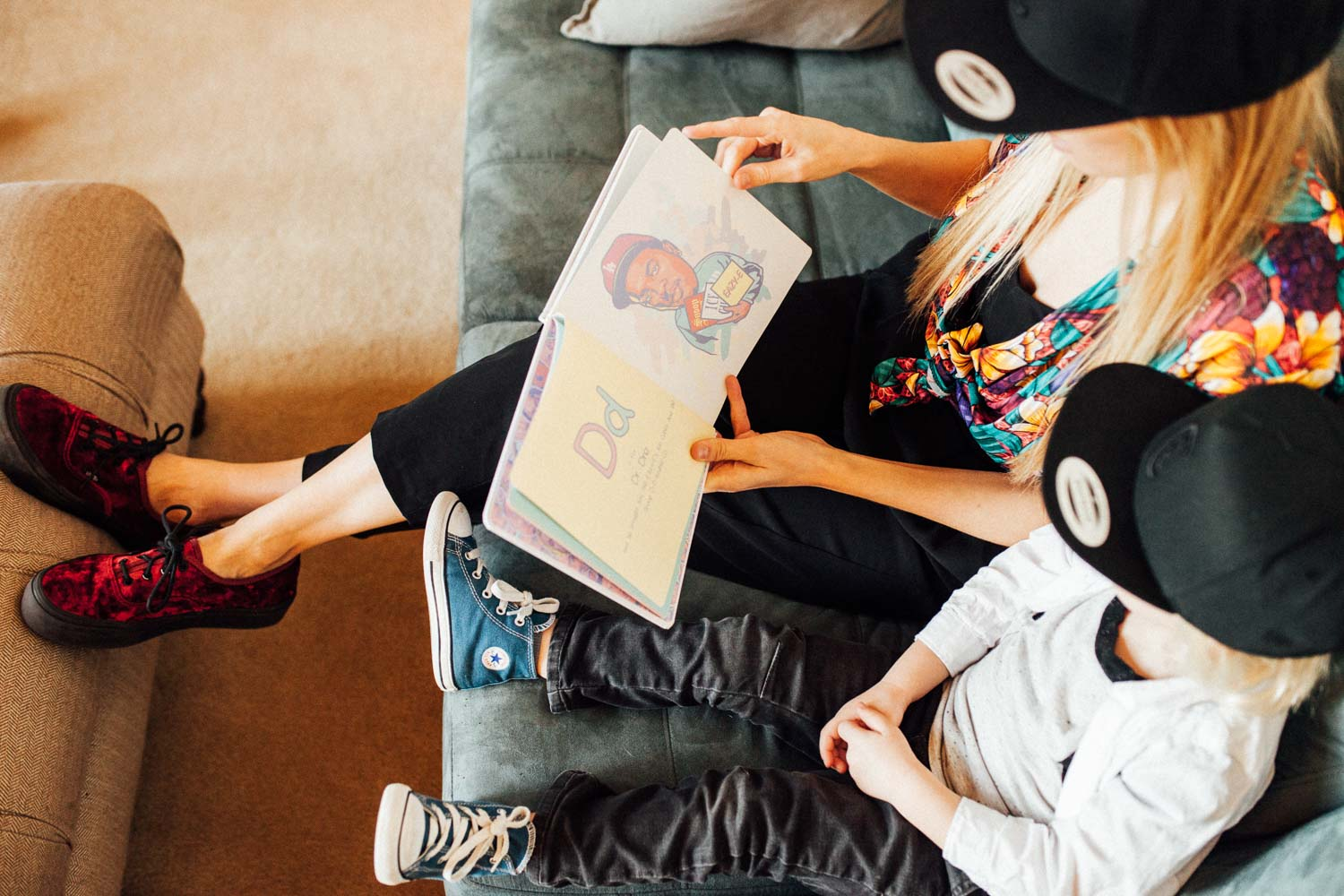 natural-and-artistic-photo-mother-and-son-reading-during-in-home-session-ogden-utah