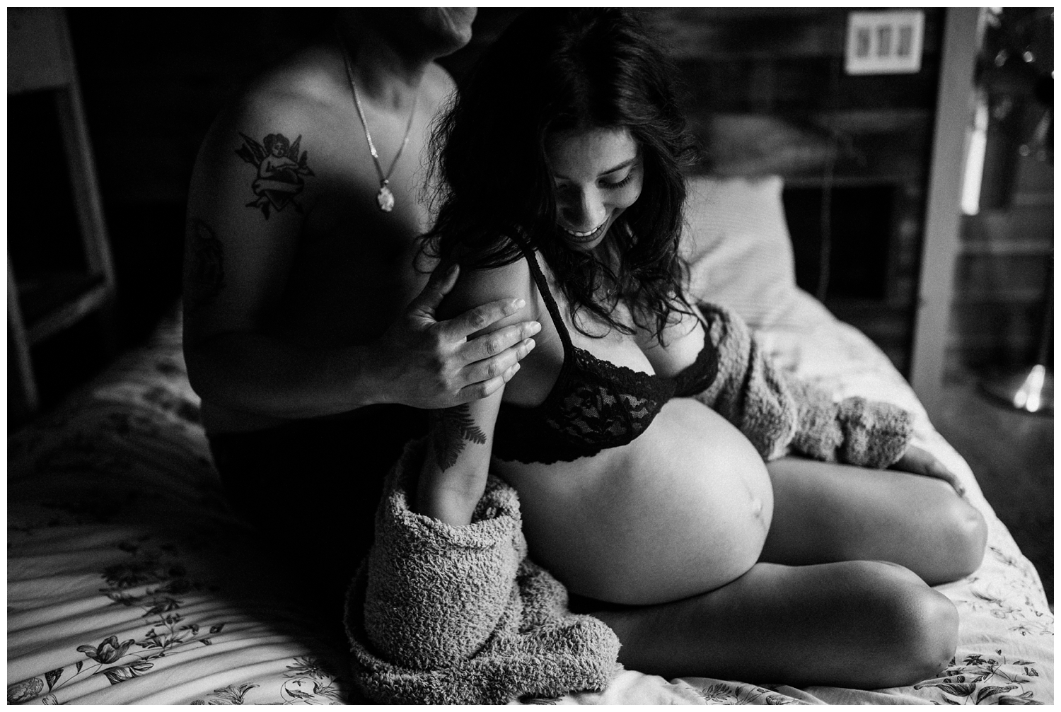 Karla and David Perez Maternity Photoshoot at Home with jenFAIRCHILD Photography in Hudson Valley New York_0018.jpg