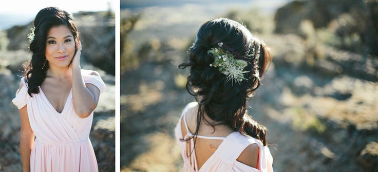 sophisticated floral hair flowers