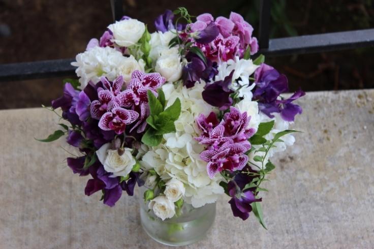 purple wedding flowers sophisticated floral portland oregon