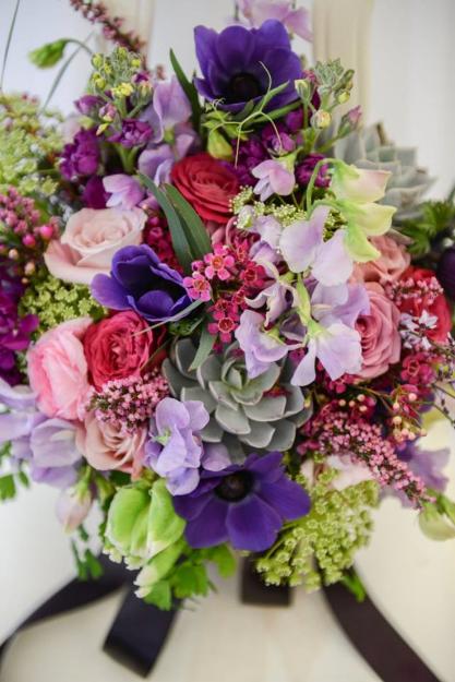 purple lavender wedding bouquet spring flowers sophisticated floral designs portland oregon wedding florist