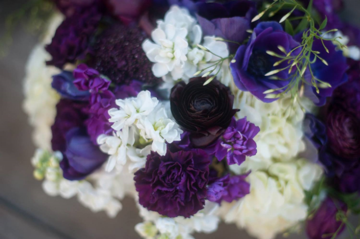 plum purple wedding flowers