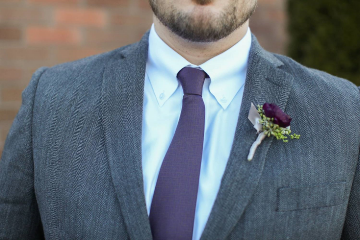 purple boutonniere sophisitcatd Floral