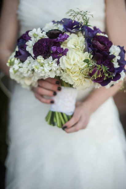 purple wedding flowers bridal bouquet