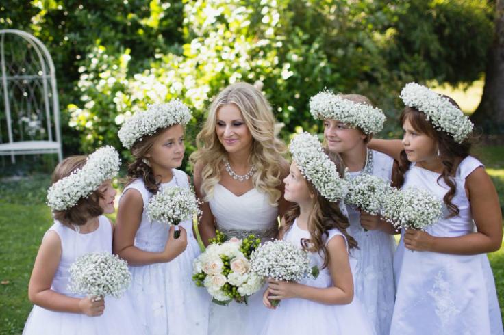 babies breath bouquets and crowns flower girls sophisticated floral designs portland oregon wedding florist
