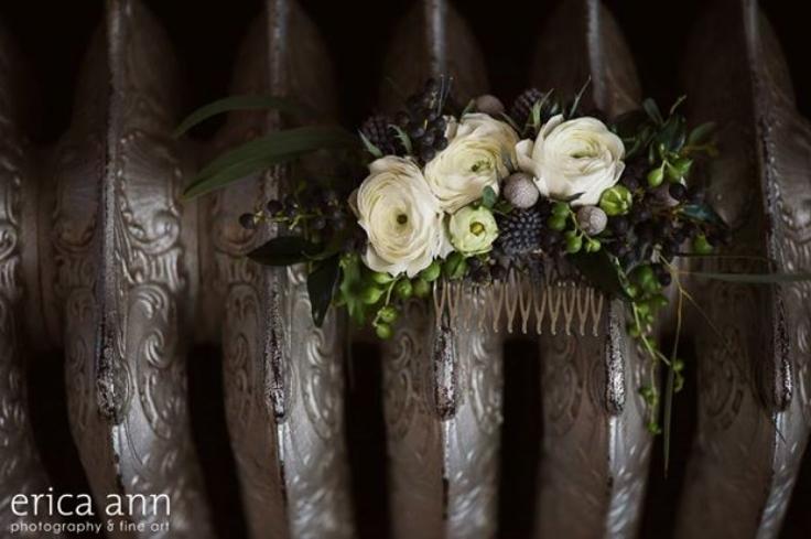 hair flowers floral comb sophisticated floral designs portland oregon