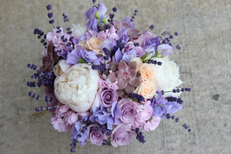 lavender peach wedding bouquet sophisticated floral designs portland oregon wedding florist