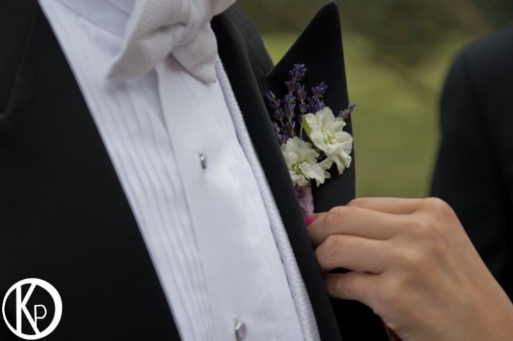 lavender boutonniere sophisticated floral portland oregon wedding florist