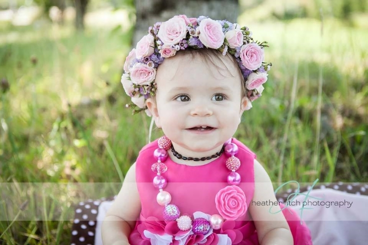 floral crown flower girl
