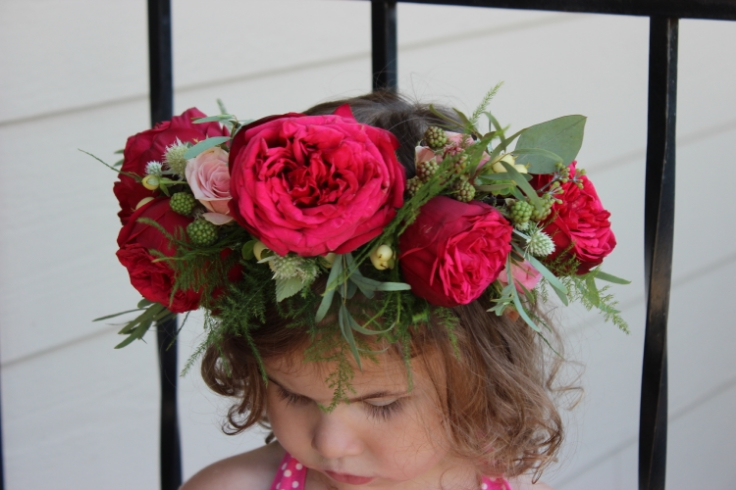 flower girl floral crown sophisticated floral designs