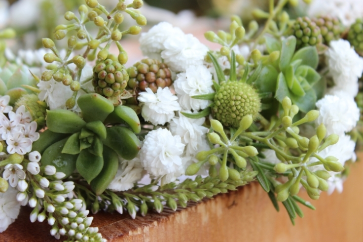 green succulent floral crown flowers for the hair
