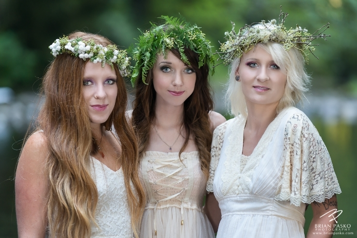 forest nympth floral crown green botanical couture