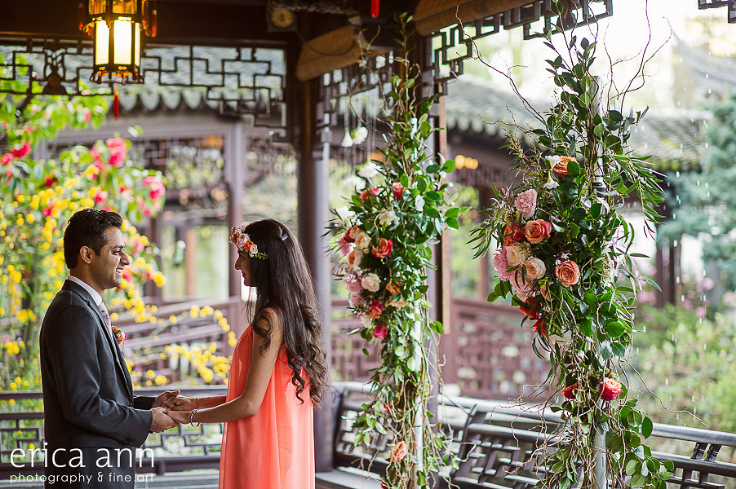 coral flowers engagement proposal portland oregon