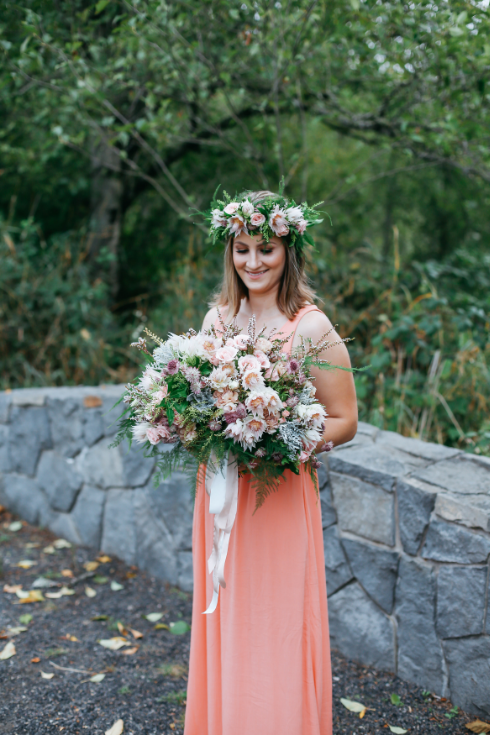 spotted stills photography sophisticated floral designs bridal bouquet floral crown