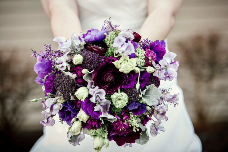 purple bridal bouquet sophisticated floral portland oregon