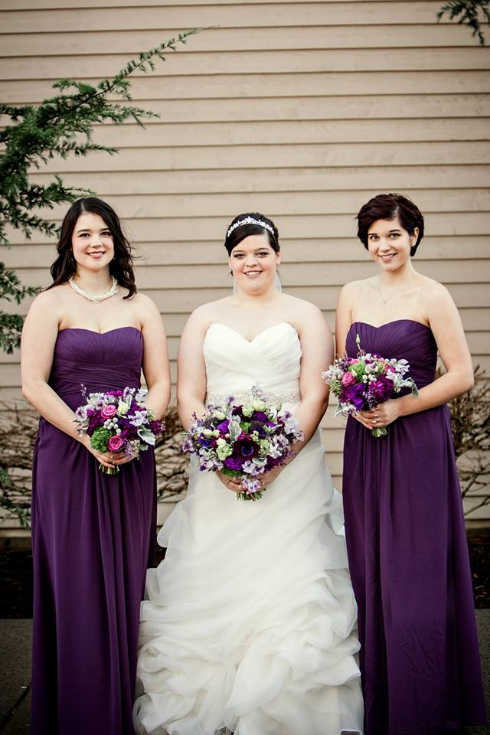 sophisticated floral designs portland oregon wedding florist purple wedding